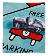 Free Parking Fleece Blanket