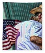 Freedom Man Fleece Blanket