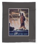 Freedom Of The Seas Fleece Blanket