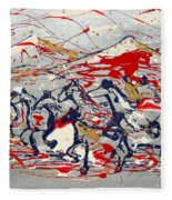 Freedom On The Open Range Fleece Blanket