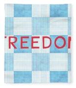 Freedom Patchwork Fleece Blanket