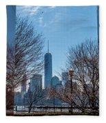 Freedom Tower Framed Fleece Blanket