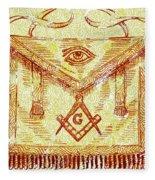 Freemason Symbolism Fleece Blanket