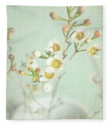Freesia Blossom Fleece Blanket