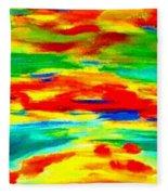Freestyle Abstract Fleece Blanket