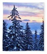 Freezing Sunset 14 Fleece Blanket