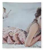 Freida Pinto Fleece Blanket