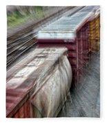 Freight Train Abstract Fleece Blanket