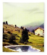 French Alps 1955 Fleece Blanket