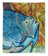 French Angle Fish Fleece Blanket
