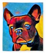 French Bulldog Fleece Blanket