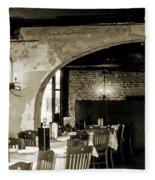 French Country Restaurant 2 Fleece Blanket