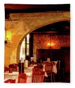 French Country Restaurant Fleece Blanket