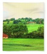 French Countryside Fleece Blanket