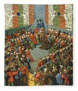 French Court, 1458 Fleece Blanket