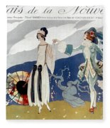 French Fashion Ad, 1923 Fleece Blanket