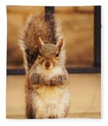 French Fry Eating Squirrel2 Fleece Blanket