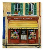French Hats And Purses Boutique Fleece Blanket