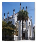 French Huguenot Church In Charleston Fleece Blanket