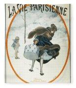 French Magazine Cover Fleece Blanket