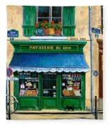 French Pastry Shop Fleece Blanket