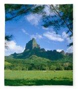 French Polynesia, Moorea Fleece Blanket