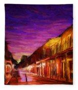 French Quarter 1 Fleece Blanket