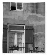 French Quarter Window Fleece Blanket