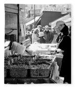 French Street Market Fleece Blanket