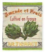 French Vegetable Sign 2 Fleece Blanket