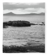 Esperance Bay Bw Fleece Blanket