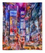 Frenzy New York City Fleece Blanket