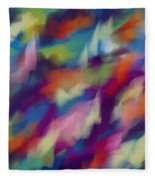 Fresh Abstraction Fleece Blanket
