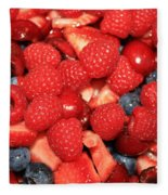Fresh Berry Salad  Fleece Blanket