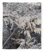 Fresh Coat Of Snow Fleece Blanket