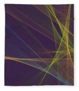 Fresh Computer Graphic Line Pattern Fleece Blanket