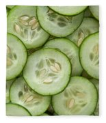 Fresh Cucumbers Fleece Blanket