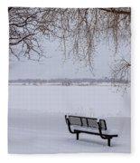 Fresh Fallen Snow Fleece Blanket