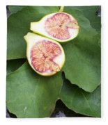 Fresh Figs Fleece Blanket