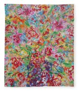 Fresh Flowers. Fleece Blanket