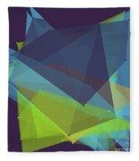 Fresh Polygon Pattern Fleece Blanket