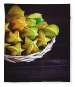 Fresh Ripe Starfruits Fleece Blanket