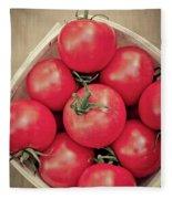 Fresh Ripe Tomatoes Fleece Blanket