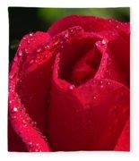 Fresh Rose Fleece Blanket