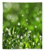 Fresh Spring Morning Dew Fleece Blanket