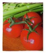Fresh Tomatoes Fleece Blanket