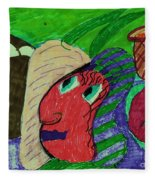 Fresh Vegetables Fleece Blanket