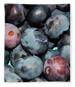 Freshly Picked Blueberries Fleece Blanket