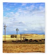 Fresno County Pastoral Fleece Blanket