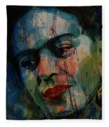 Frida Kahlo Colourful Icon  Fleece Blanket